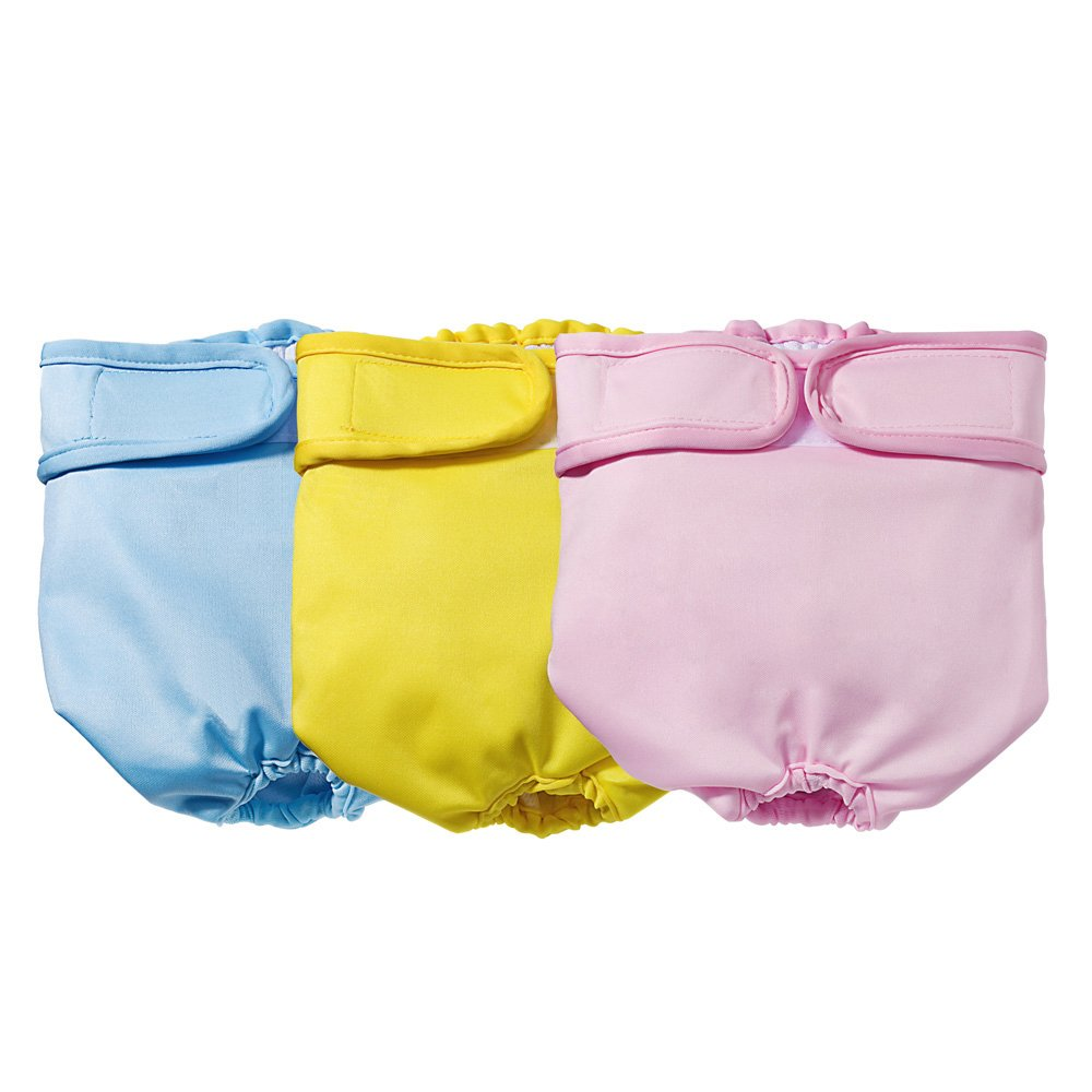 Mkono Dog Diapers Female Washable Wraps for Dogs Doggie 3 Pack by