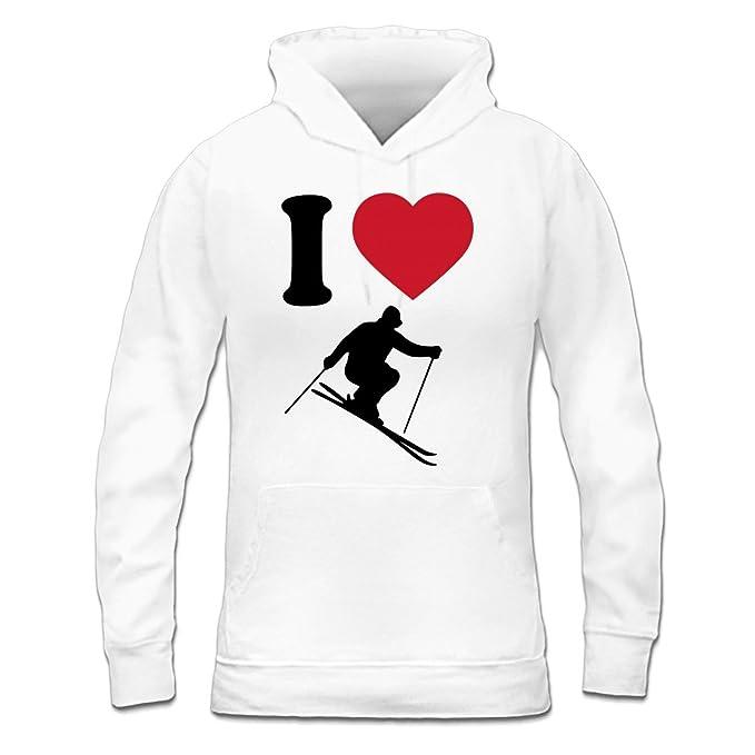 Sudadera con capucha de mujer I Love Skiing Silhouette by Shirtcity: Amazon.es: Ropa y accesorios