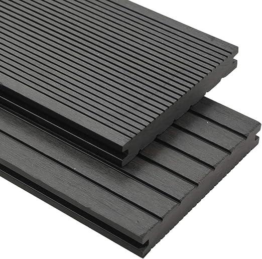Tidyard - Suelo para exteriores WPC completo, suelo para piscina exterior tierra accesorios 10 m2 2,2 m gris: Amazon.es: Hogar