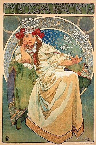 Princess Hyacinth, 1911 Alphonse Mucha Art Nouveau Reproduction