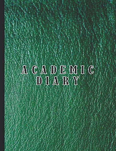 Academic diary: Large page per day academic organizer planner for all your educational organisation - Green leather effect cover - Croc Desktop