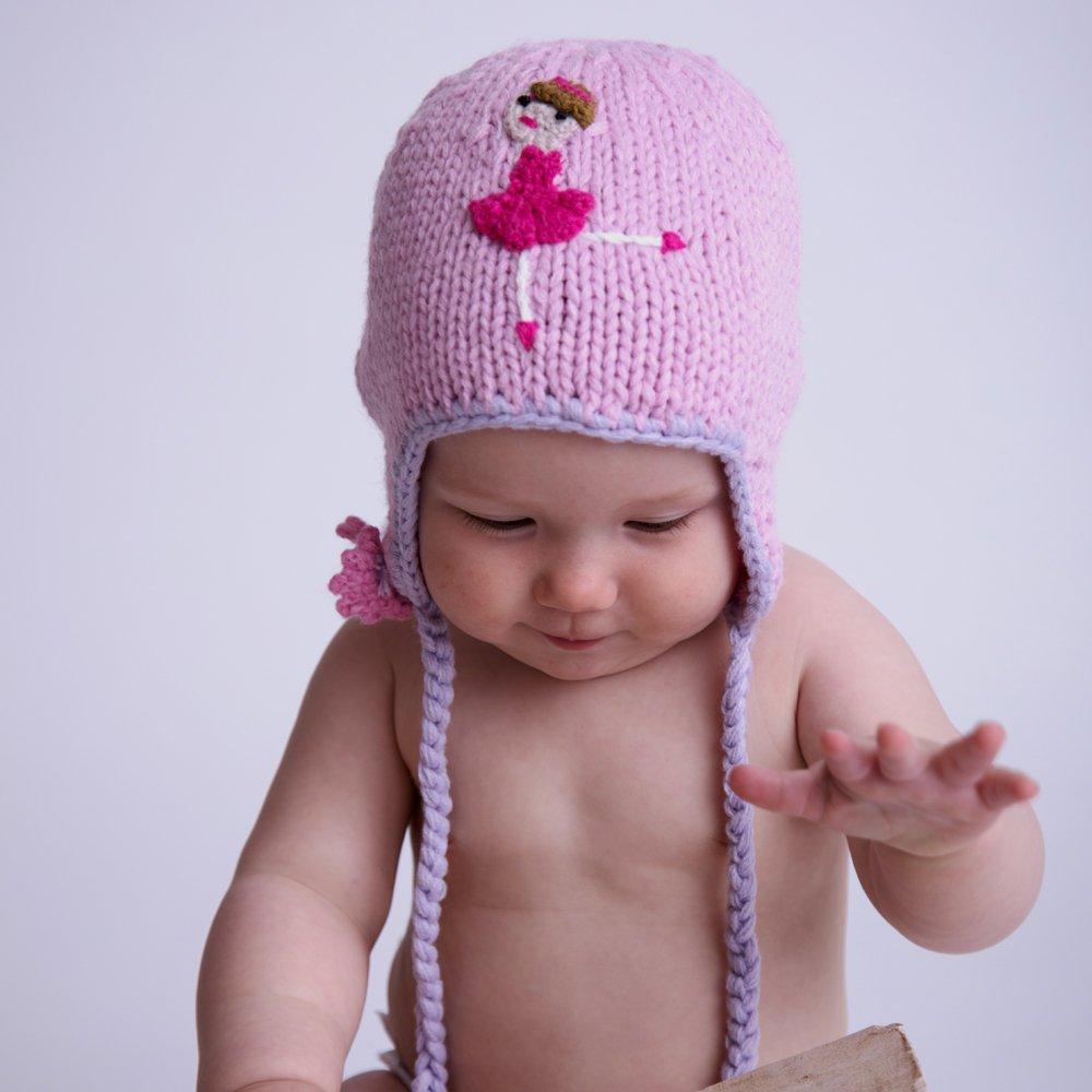 or Legwarmers Huggalugs Baby and Toddler Girls Pink Ballerina Beanie Hat