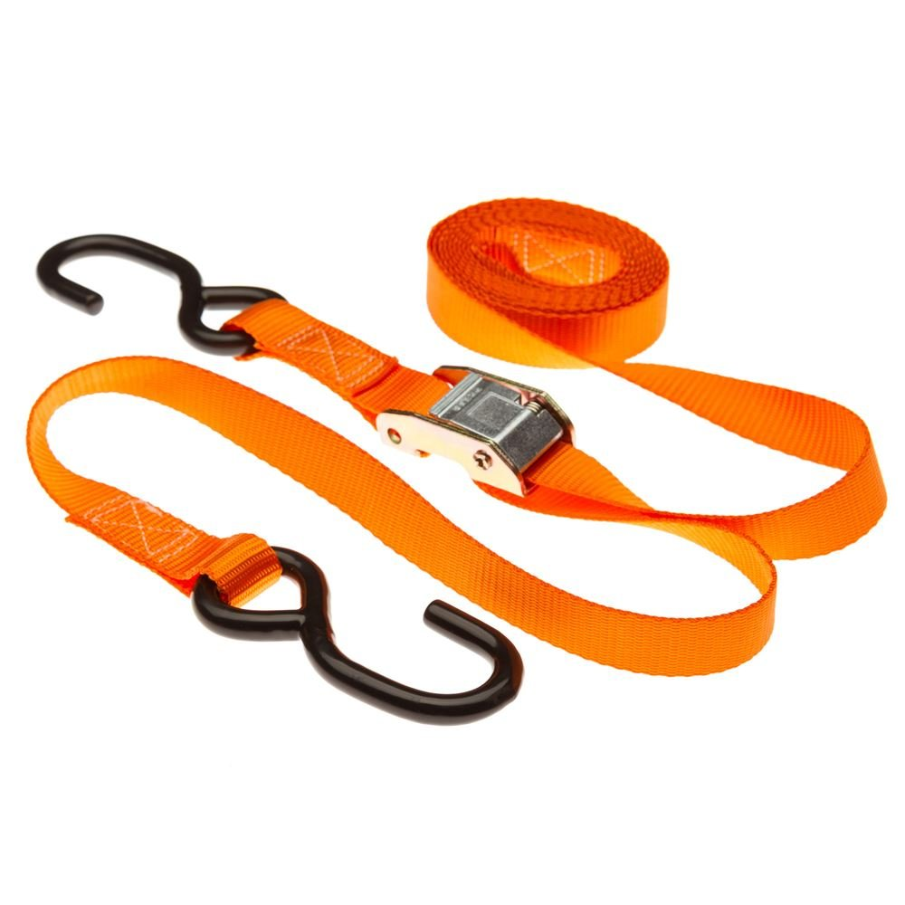 Discount Ramps Rage Powersports VH-Strap-C-10-O Tie-down Strap Set (120' Orange Motorcycle and ATV Cam Buckle) by Discount Ramps (Image #4)