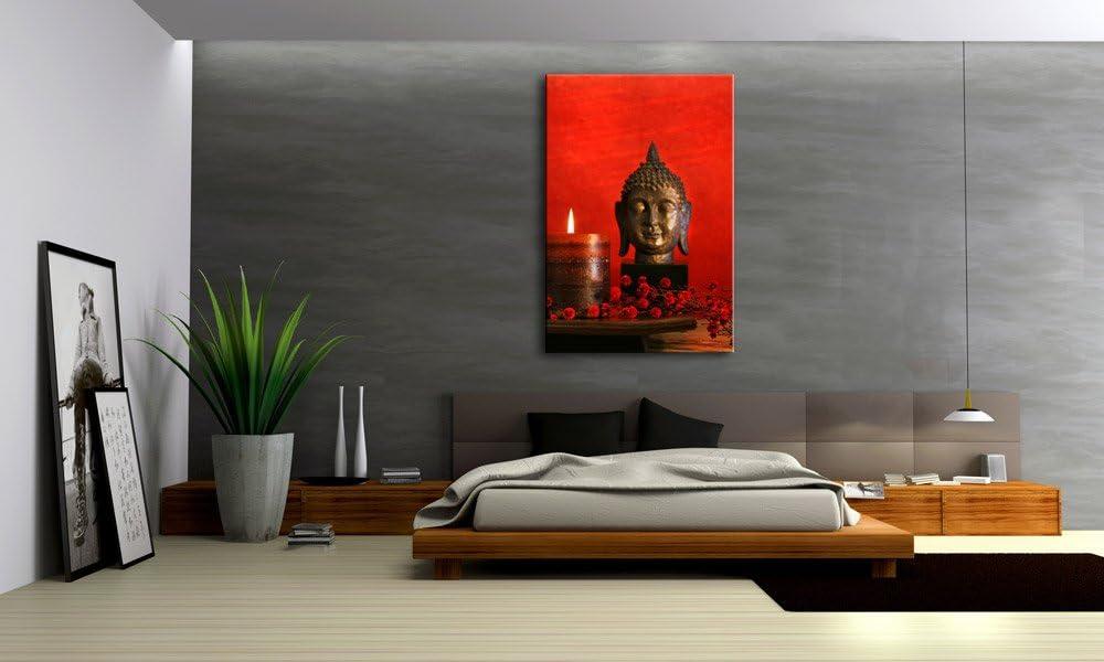 Impresión sobre lienzo Buda rojo 60 x 80 cm Art. No A00791 FENG ...