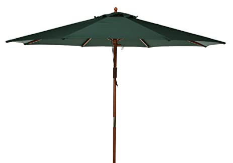 Market Umbrella Fabric: Green, Opening Mechanism: Dual Pulley And Skylight,  Pole Material