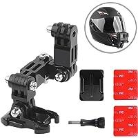 IronBuddy - Casco de Moto con Soporte Ajustable para Casco de Barbilla con Base Adhesiva 3M y Tornillo para GoPro Hero 7 6 5 4 y más