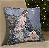 Come Let Us Adore Him Nativity Pillow, 14'' Square.