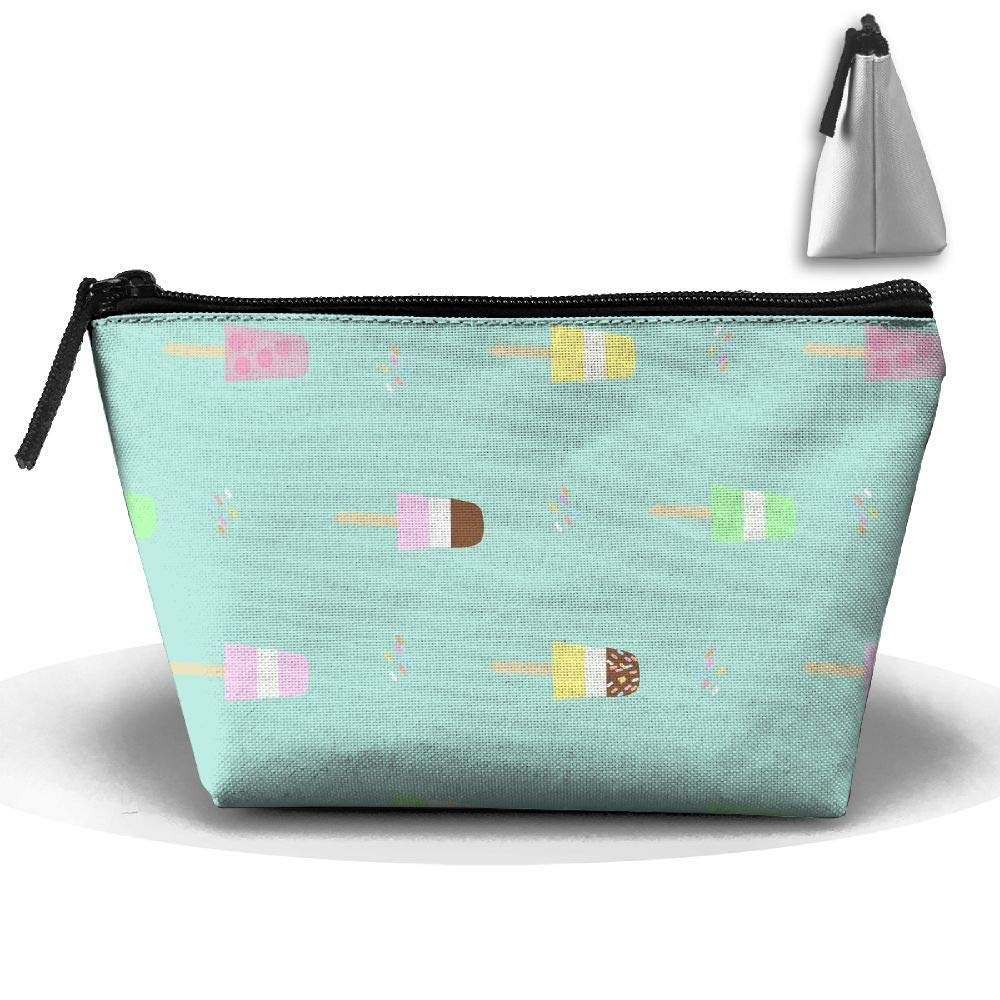 RobotDayUpUP Summer Popsicle Womens Travel Cosmetic Bag Portable Toiletry Brush Storage Multifunctional Pen Pencil Bags Accessories Sewing Kit Pouch Makeup Carry Case