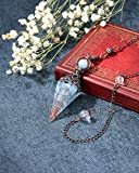 Jovivi Natural Aquamarine Healing Crystal Pendulums