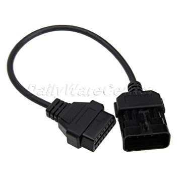 10 Pin OBD1 To 16 Pin OBD2 Diagnostic Connector Adapter Cable For Opel Vauxhall