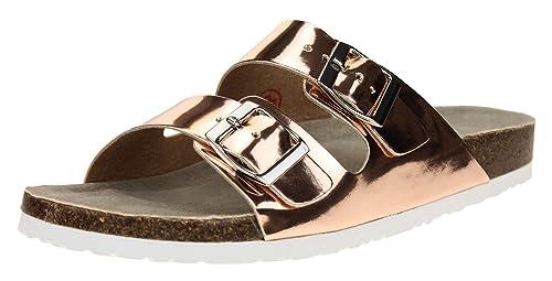 c3c0cfe0efc Skechers Women s Two Strap Relax FitMemory Foam Sandal Size 10 Rose Gold