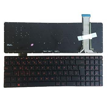 Nuevo Computadora Portátil Reemplazo Teclado Para Asus GL551 G551 G551J G551JX G551JK G551JM G551JW G551VW G58 G58JM G58JW G58VW G552 G552V G552VW G552VX ...