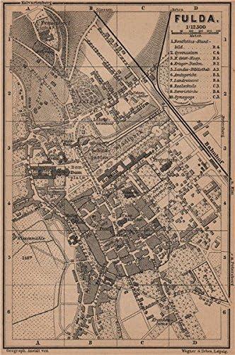 Amazon Com Fulda Antique Town City Stadtplan Hessen Karte