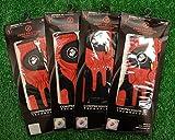 4 Zero Friction Men's LH Universal Fit Golf Gloves - Marines - Red