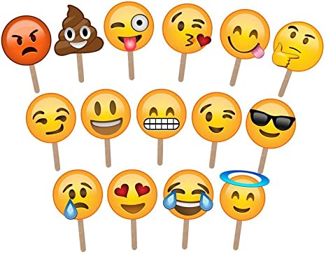 Emoji Photo Booth Props - Large Enough to Cover The Face