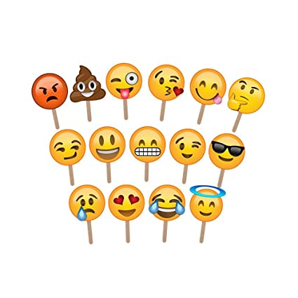 fde3d5d6b798 Amazon.com  Emoji Photo Booth Props - Large Enough to Cover The Face -  Ideal for Weddings and Parties - Huge Pack of 15  Camera   Photo