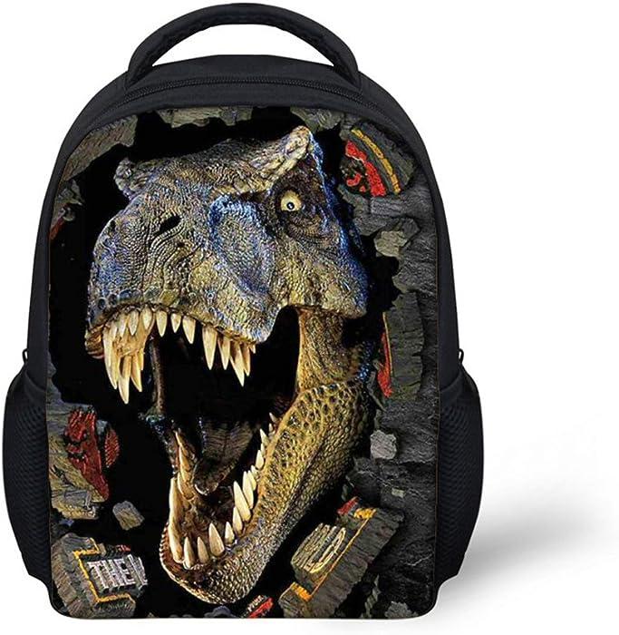 9e1fdc19c6d Amazon.com  HUGS IDEA Fashion Black Dinosaur Backpack Small Animal ...