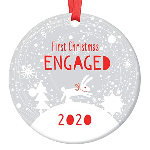 Engaged 2020 Christmas Ornament Amazon.com: First Christmas Engaged Ornament 2020 Cute Winter