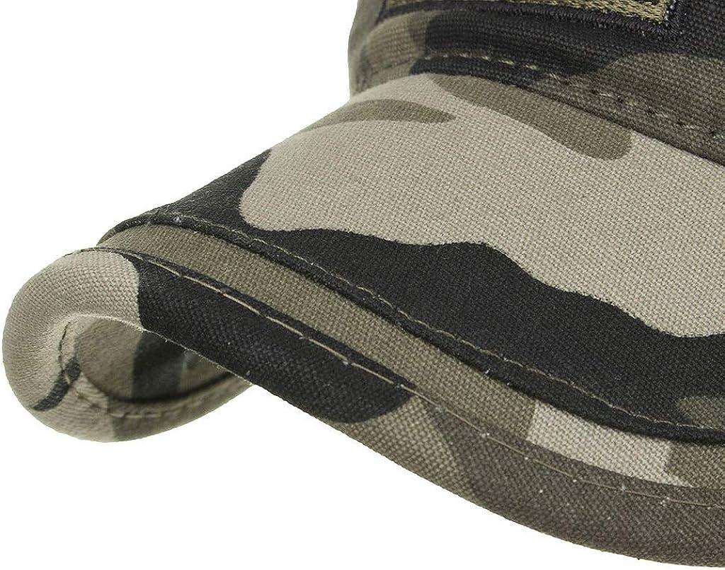 Auiyut Gewaschene Baumwolle Military Caps Unisex Einzigartiges Design Vintage Flat Top Cap Sommer Head Outdoor Freizeit Schildm/ütze Cadet Caps Mode-Baseballm/ütze