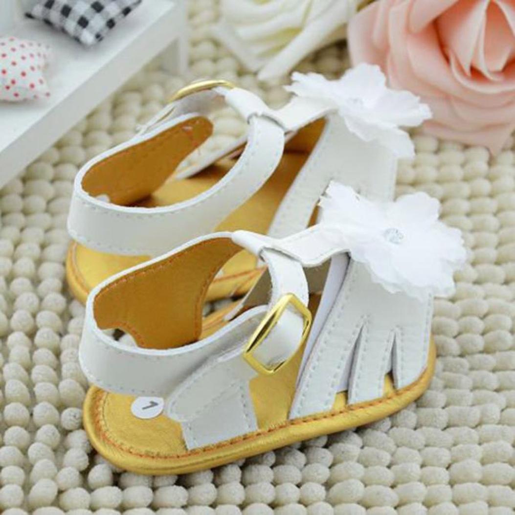 Voberry Summer Baby Girls Kids Prewalker Shoes Princess Toddler Soft Soled Anti-slip Sandals
