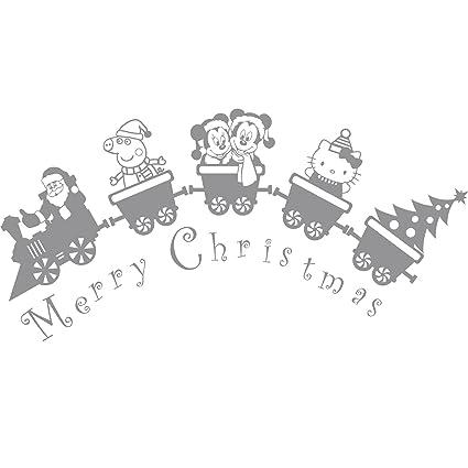 Tren (43 cm x 150 cm) con Papá Noel, Peppa Pig, Mickey mouse y ...