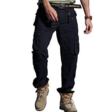 Army Mens Military Pants Tactical Jeans Combat Cargo Multi Pocket Hiking Casual