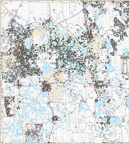 Amazon.com: Polk County, Lakeland & Winter Haven FL Wall Map ...