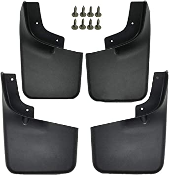 US 4Pc Front Rear Set Wheel Splash Mud Guards Flaps Fits For Ford F150 2004-2014