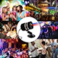Laser Party Light Projector, Aluminum Alloy Indoor Outdoor DJ Laser Show Projector with RF Remote Control Red Blue Stage Dancing Light by COOWOO