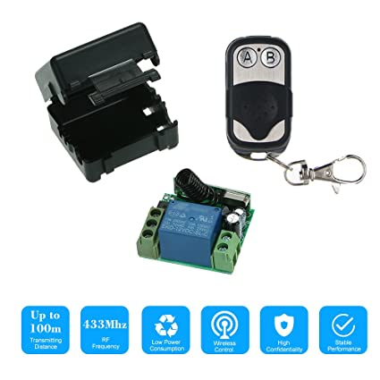 amazon com owsoo smart home 433mhz dc 12v 1ch wireless remote 12 Volt Rocker Switch Wiring Diagram