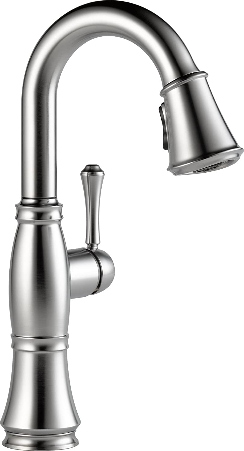 Delta 9997-AR-DST Cassidy Single-Handle Pull-Down Bar-Prep Faucet ...