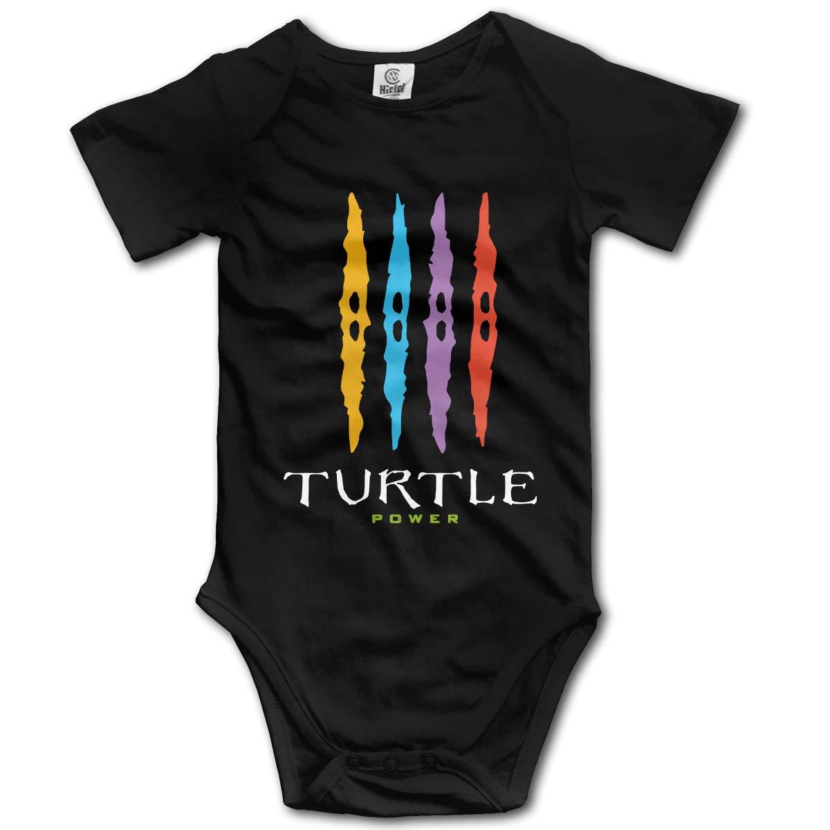 Turtle Power Baby Short Sleeve Romper Onesie Bodysuits for Toddler