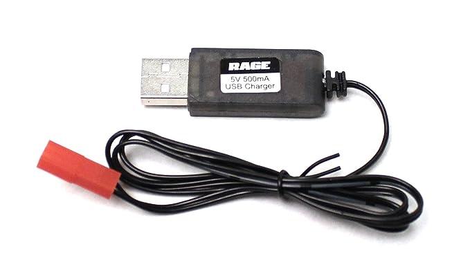 Amazon.com: Rage R/C – Cargador USB; Stinger 240: Toys & Games