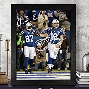 Andrew Luck Reggie Wayne Signed Autographed Photo 8X10 Reprint Rp Pp - Indianapolis Colts