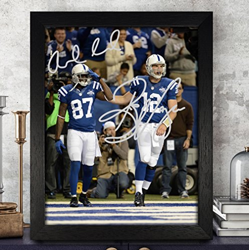 Reggie Wayne Signed Colts - Andrew Luck Reggie Wayne Signed Autographed Photo 8X10 Reprint Rp Pp - Indianapolis Colts