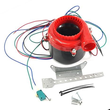 Dengzhu coche Fake Válvula de descarga electrónico Turbo sonido analógico Blow Off Valve BOV