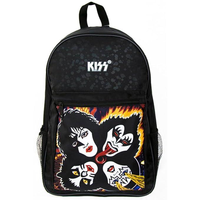 KISS Rock & Roll Over 1976 Album Cover Back Pack Backpack Black