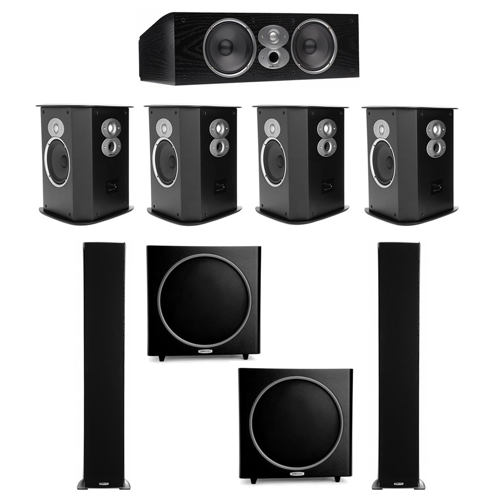 Polk Audio RTi 5.2 System with 2 A9 Tower Speakers, 1 CSi-A6 Center Speaker, 2 FXi-A6 Surround Speaker, 2 Polk PSW125 Subwoofer by Polk Audio