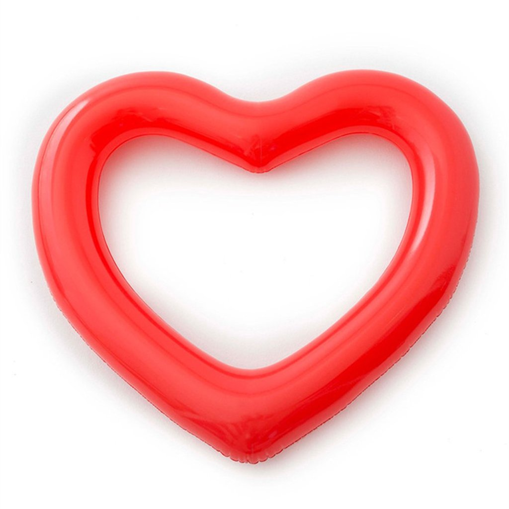 Swimming Circle Love Swimming Circle Thickening Pvc Heart Type Floating Ring Floating Row Adult Models 120Cm Water Toys,Red11090Cm by Xingqianru