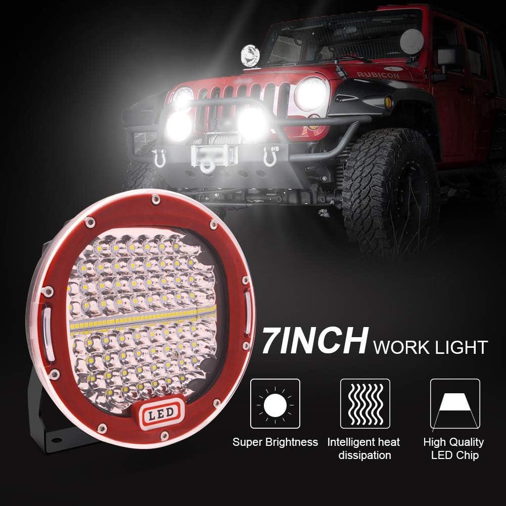 Camion Safego Phare LED 7 300W 24000LM Feux Additionnels Projecteur Travail LED pour Moto Caravane Tracteur B/âteau 2 ans de Garantie Phare de Travail LED Imperm/éable IP67 Voiture SUV J-eep