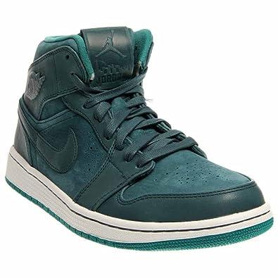nouveau style d94dc c42e5 NIKE Air Jordan 1 Mid Nouveau Men's Shoes Night Shade/Lush Teal/White  629151-306 (SIZE: 8.5)