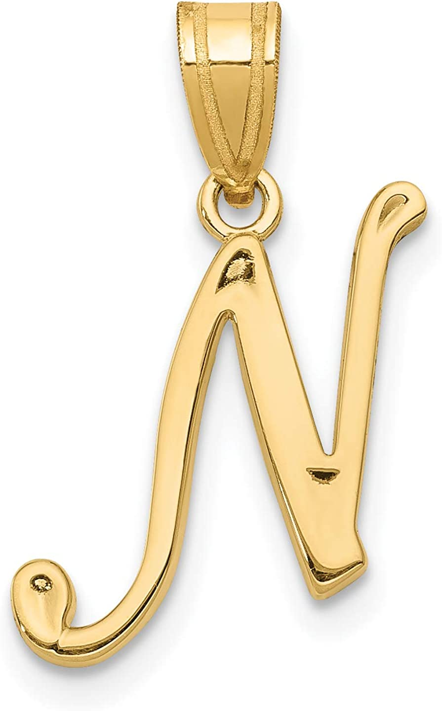 14k Yellow Gold Key Pendant on a 14K Yellow Gold Carded Rope Chain Necklace