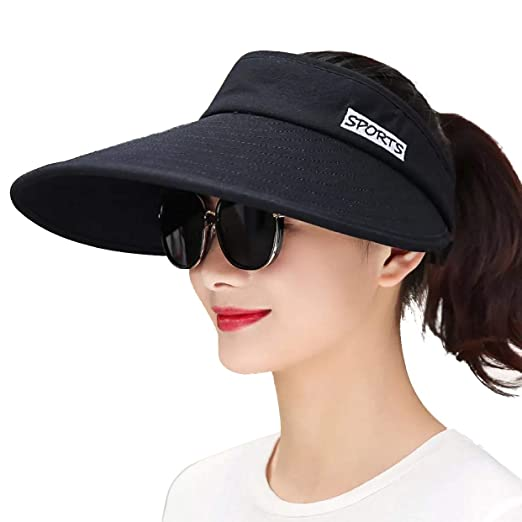 JOYEBUY Women 5.5   Large Brim Sun Visor Hats Outdoor UV Protection Summer  Beach Cap c7309b41f42