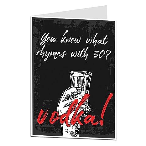 Divertente Per Compleanno Per Uomo Donna 30 Today Vodka