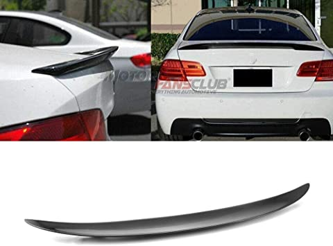 Carbon Fiber Painted ECOTRIC Rear Trunk Lid Spoiler Wing Winglet Compatible with 2007-2013 BMW 3 Series E92 Coupe 328i 335i M3