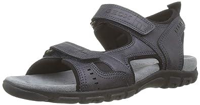 db12e9edf Geox Men s Uomo Sandal Strada a Open Toe  Amazon.co.uk  Shoes   Bags