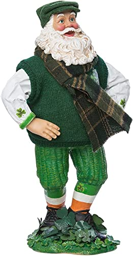 Kurt Adler 10-inch Fabrich Musical Irish Dancing Santa