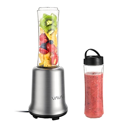 Mini licuadora vava Smoothie maker batidora con 2 botellas de 600 ...