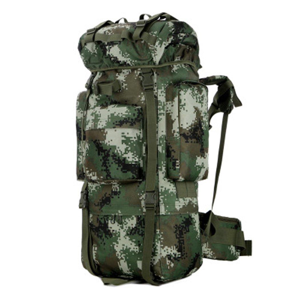 JUNBOSI 80L屋外多機能男性と女性登山バッグ折り畳み式ハイキングバックパック、軽量キャンプトレッキングバックパック、レインカバー付き B07DYR1MQ9 One Size|D D One Size