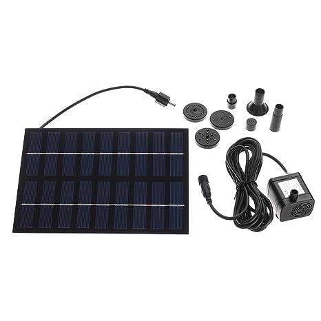Amazon com: Solar Pump Solar Power Water Pump Panel Kit Fountain